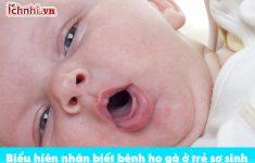 Biểu hiện nhận biết bệnh ho gà ở trẻ sơ sinh,12