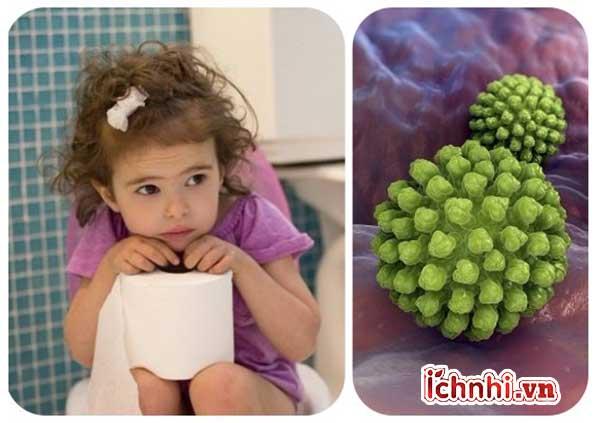 Khi bé bị sốt và tiêu chảy do virus Rotavirus