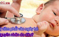 Nguyên nhân trẻ bị viêm phổi vào mùa hè, những sai lầm từ mẹ2
