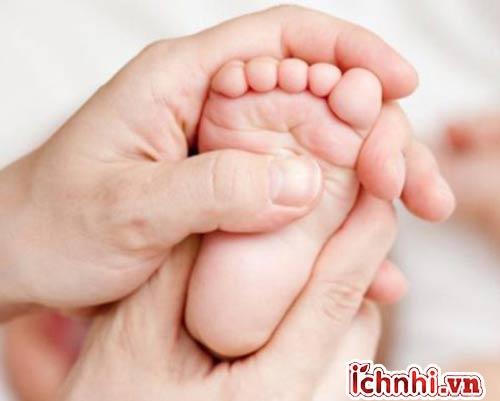 Làm ấm lòng bàn chân, vùng lưng, ngực