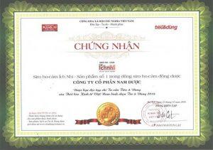 Siro Ho - cảm Ích Nhi được bình chọn là – Sản phẩm Số 1 trong dòng Siro Ho cảm Đông Dược