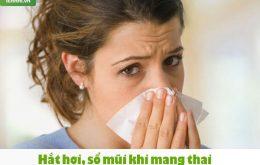 2. Cách điều trị hắt hơi sổ mũi cho bà bầu1