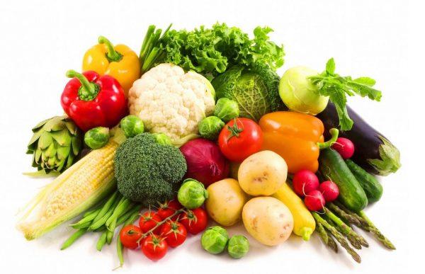 bà bầu ăn nhiều hoa quả và rau củ