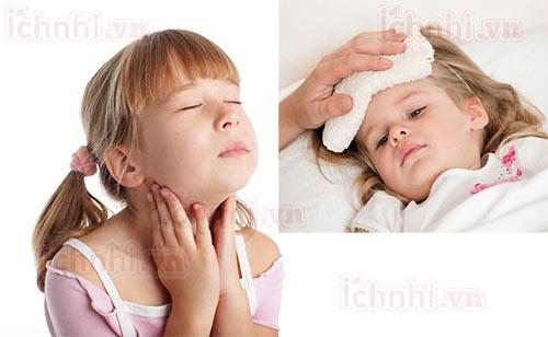 Trẻ bị sốt viêm họng phải làm sao? +Cách chăm sóc hiệu quả