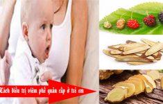 Cách điều trị viêm phế quản cấp ở trẻ em