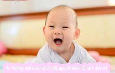 Bé 4 tháng tuổi bị ho và sổ mũi, nguyên nhân và cách điều trị4