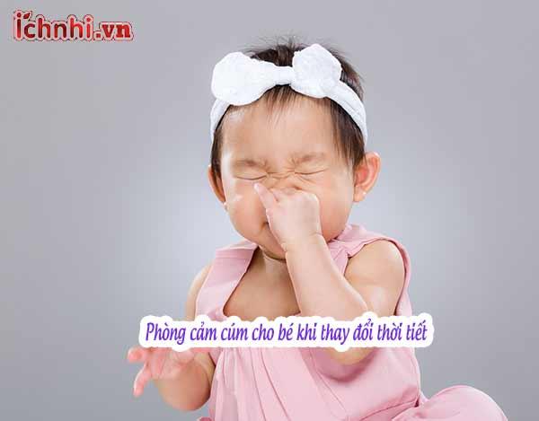 +3 bí quyết phòng cảm cúm cho bé khi thay đổi thời tiết