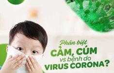 Phân biệt cảm sốt thông thường với bệnh do virus corona ở trẻ
