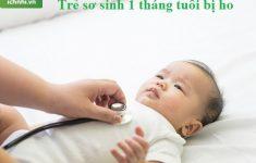 Trẻ sơ sinh 1 tháng tuổi bị ho phải làm sao? + Cách chữa