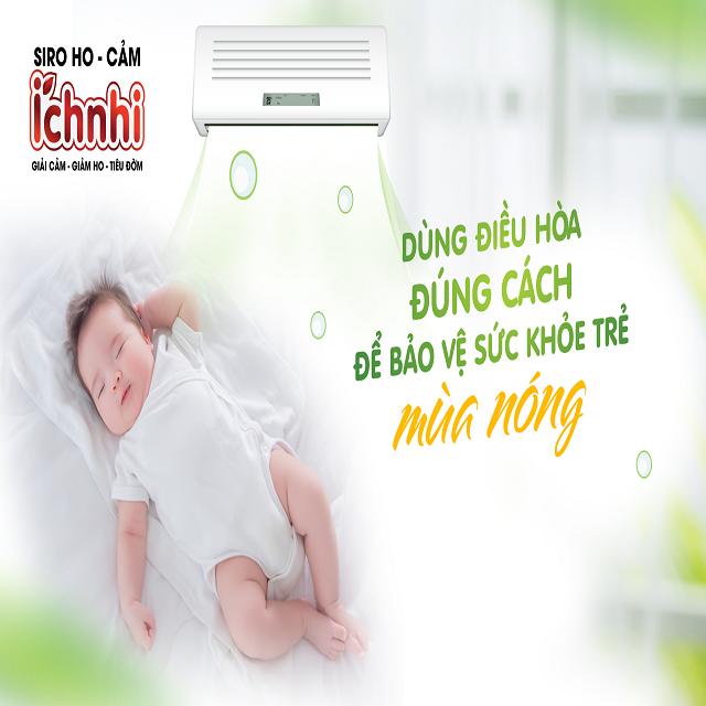 Trẻ sơ sinh bị ho và nghẹt mũi do ngủ điều hòa, mẹ cần làm gì?2