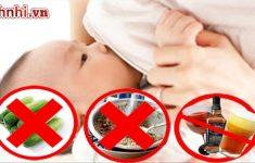 Trẻ sơ sinh bị ho mẹ nên kiêng ăn gì? Giúp con nhanh khỏi
