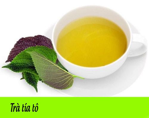 Pha trà tía tô CHỮA CẢM CÚM BÀ BẦU