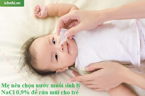 Bài thuốc trị nghẹt mũi cho trẻ sơ sinh