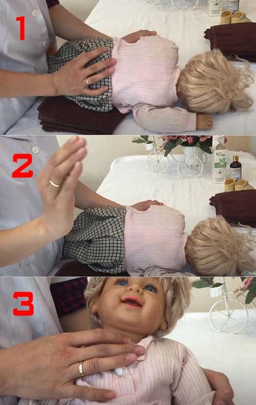 Hướng dẫn cách vỗ rung đờm cho bé sơ sinh từ 0 đến 12 tháng tuổi